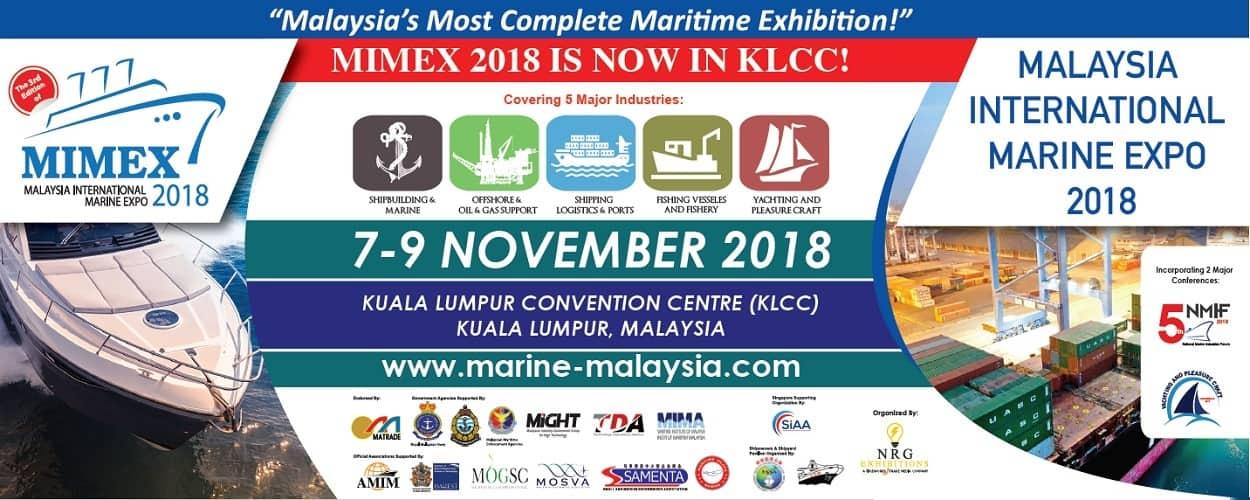 Malaysia International Marine Expo (MIMEX) 2018